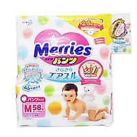 Tã/Bỉm Quần Merries Size M 58 miếng (dành cho bé...