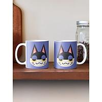Cốc sứ uống trà cà phê in hình đầu mèo ngộ nghĩnh đáng yêu - Cốc quà tặng