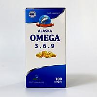 Thực phẩm bảo vệ sức khỏe Dầu cá Alaska Omega 3.6.9 cải thiện thể lực -Lọ 100 viên