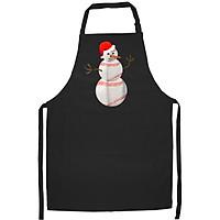 Tạp Dề Làm Bếp In Hình Christmas Baseball - Baseball Snowman Christmas