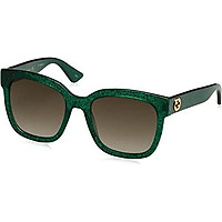 Gucci GG0034S 007 Green 0034S Square Sunglasses Lens Category 3 Size 54mm