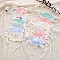 Khẩu trang sợi tre, Khăn bịt mặt vải xô sợi tre 4 lớp bịt mặt chống bụi cho bé từ sơ sinh đến dưới 5 tuổi