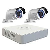 Trọn bộ 2 Camera quan sát HIKVISION TVI 1 Megapixel DS-2CE16C0T-IRP chuẩn 720HD - Hàng chính hãng