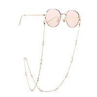 Women Eyeglasses Chain Simple Imitation Pearl Diamante Metal Hanging Neck Non-slip Glasses Eyeglass Cord