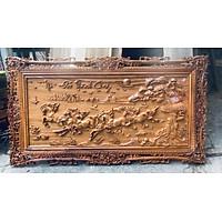 Tranh MÃ ĐÁO THÀNH CÔNG gỗ Gõ đỏ 69 x 127cm
