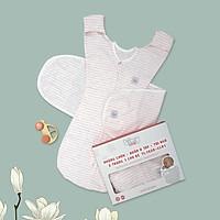 Nhộng chũn quấn ủ kiêm túi ngủ và quấn ủ tay 100%  Cotton cho bé sơ sinh Tinylove luyện bé ngủ easy - tặng 2 khăn quàng cổ cotton