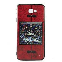 Ốp lưng Samsung J7 Prime Diên Hi - Đỏ vuông