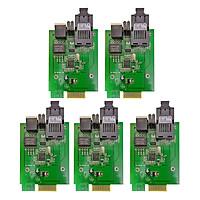 5 Card Converter Quang 1Gb Netlink Single Mode Dùng 2 Sợi Quang (25Km) - Hàng Nhập Khẩu