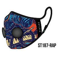 Khẩu trang thời trang cao cấp Soteria Rap ST187 - Khẩu trang vải than hoạt tính [size S,M,L] Van đen