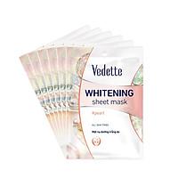 Combo 6 Mặt Nạ Trắng Hồng Tự Nhiên Vedette Whitening Sheet Mask Set (Pearl) 22mlx6