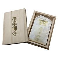 Set omamori học hành và hộp gỗ Nhật Bản