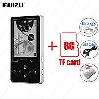 RUIZU D08 Mini Walkman 8GB Metal MP3 Player 2.4in HD Large Color Screen Music Player HIFI Lossless Sound E-book Video Player Built-in Speaker Support TF Card