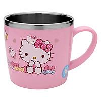 Ly Uống Nước Cho Bé Có Tay Cầm Bằng Thép Không Gỉ  Hello Kitty LKT427 (11 x 8 x 7.5 cm) - Hồng