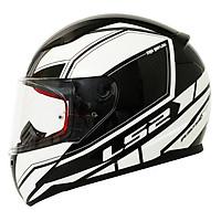 Mũ Bảo Hiểm FullFace LS2 FF353 Rapid InFinity Black White