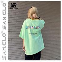 Áo thun tay lỡ nữ SAM CLO freesize phông form rộng Unisex, mặc lớp, nhóm, cặp in chữ missout BAKERY