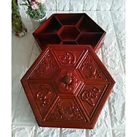 Khay đựng bánh mứt kẹo gỗ hương cổ điển sang trọng cho phòng khách - HMT31