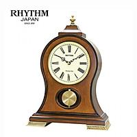 Đồng hồ để bàn Nhật Bản Rhythm CRJ721NR06 - Kt 28.6 x 40.3 x 13.1cm, 2.26kg Vỏ gỗ, dùng PIN.