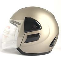 Mũ bảo hiểm trùm đầu 3/4 có kính - AGU A119 - Bạc nhám