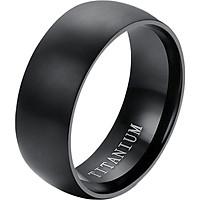Black Titanium Steel Ring Wedding Engagement Anniversary Band Size6-12 Jewellry