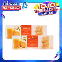 Combo 2 Bánh Xốp Quýt Imperial (100G x 2 hộp) Thái Lan