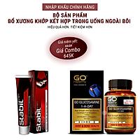 Bộ sản phẩm xương khớp nhập khẩu chính hãng trong uống ngoài bôi gồm: Viên uống GO Glucosamine 1-A-Day 1500mg (30 viên) và Kem bôi khớp Stabil (75 gam)