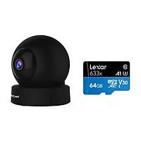 Combo Camera ip wifi không dây G43s 1080p 2MB Vstarcam , Kèm thẻ 64GB A1 4K Lexar - Hàng chính hãng