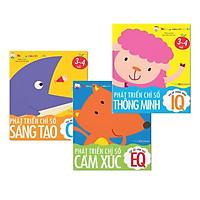 Combo 3 cuốn Miếng Dán Thần Kỳ - Phát Triển Chỉ Số IQ - CQ - EQ Cho Trẻ Từ 2-5 Tuổi