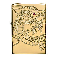 Bật Lửa Zippo 29265 - Armor Red Eyed Dragon 360 Degree Engraving Gold Plate