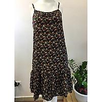 Váy hai dây hoa nhí vintage cho nữ