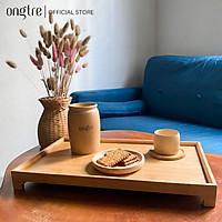 Khay trà bằng gỗ Tre kiểu Nhật (Hàng VN), 40x25x4cm