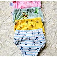 Combo 3 Quần bỏ bỉm cao cấp vải cotton 6 lớp siêu thấm, thoáng mát hiệu goodmama cho Bé trai từ 5-17 kg.