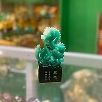 Rồng xanh nhỏ trên đế đá đen - thần long, vương giả chí tôn FK157M