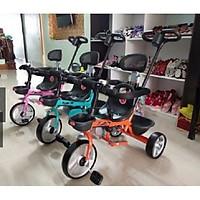 Xe đạp 3 bánh có tay đẩy - Xe đẩy cho bé - Xe chòi chân