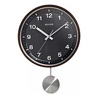 Đồng hồ treo tường RHYTHM WOODEN WALL CLOCKS CMP550NR06 ( Kích thước 31.5 x 44.8 x 7.0cm), Vỏ màu nâu