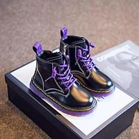 Giày bốt bé gái Doctor đế trong hàng chất lượng cho bé từ 6 - 12 tuổi