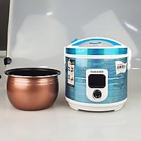 Nồi cơm điện công suất 900W, 2Lit nấu tầm 5-7 lon gạo GUGKDD lồng niêu dày chống dính tốt, màu ngẫu nhiên-HÀNG CHÍNH HÃNG