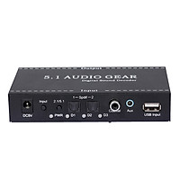 NK-A6L 5.1 Audio Gear Digital Sound Decoder Audio Converter 3.5mm Audio Output Replacement for Dolby Digital AC-3 DTS EU