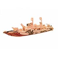 Mô hình 3D bằng gỗ Tàu quân sự 167