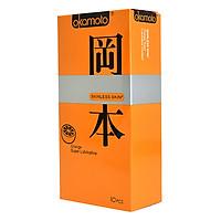 Bao Cao Su Okamoto Skinless Skin Orange Lubricated 10s Hương Cam