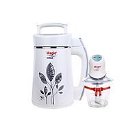 Máy Làm Sữa Đậu Nành, Xay Đa Năng Magic Korea A68 + Máy Xay Thực Phẩm Đa Năng, 02 Lưỡi Dao Kép Magic Korea A04 - Hàng chính hãng