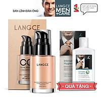 CC Cream Trang Điểm Collagen Đẹp Da Chống Nắng 30ml cho Nam TẶNG Gel Vệ Sinh Vùng Kín Nam 100ml LANGCE