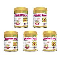 Bộ 5 Lon Sữa Bột NutiFood Diabet Care Gold Lon 900g Cho Người Tiểu Đường, Đái Tháo Đường Và Tiền Đái Tháo Đường