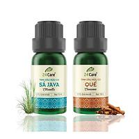 Combo 2 Tinh dầu Sả Java + Quế  24Care 10ml/Chai