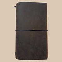 Sổ da Midori Travel Notebook - Da Ngựa Điên (Chưa có ruột sổ)