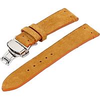 Dây đồng hồ da bò không chỉ viền kèm khóa chống gẫy dây