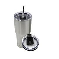 Ly giữ nhiệt có nắp chống tràn cao cấp, tặng kèm túi đựng và ống hút inox tái sử dụng