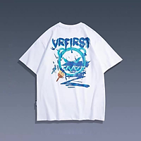 3 Color【M-3XL】 Summer New Style Fashion Printed Graphic Short Sleeve T-shirt Men Breathable Unisex Half Sleeve T-shirt Oversize Student Short T-shirt Couple Wear