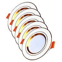 Bộ 5 Đèn LED Âm Trần Cao Cấp 3 Màu Suntek 7W