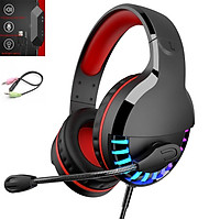 3. 5mm+usb Gaming Headset Headphone Surround Sound Stereo Game Wired Colorful LED Earphone With Hd Microphone