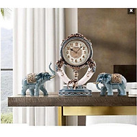 Đồng hồ để bàn hình con voi độc đáo - Đồng hồ cao cấp trang trí - Đồng hồ để bàn đẹp may mắn